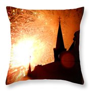 New Orleans St. Louis Cathedral A New Day A New Year In Louiisana Throw Pillow