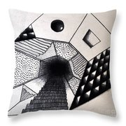 A New Dimension Throw Pillow