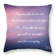 A New Face Throw Pillow