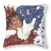 A New Head For Hope's Snowman Throw Pillow