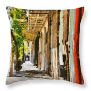 A New Orleans Alley Throw Pillow