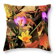 A New Season Blooms Throw Pillow