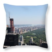 A New Skyscraper In Nyc Skyline Throw Pillow