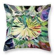 A New Sun Flower Throw Pillow by Mindy Newman