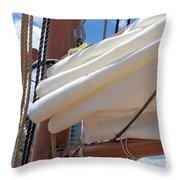 A Nice Pile Of Sail Throw Pillow