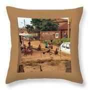 A Nigerian Doctor's Office Throw Pillow