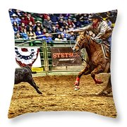 A Night At The Rodeo V10 Throw Pillow
