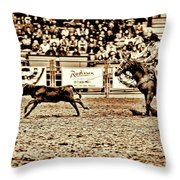 A Night At The Rodeo V11 Throw Pillow