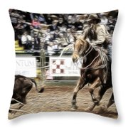 A Night At The Rodeo V12 Throw Pillow