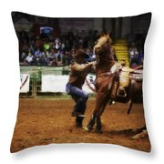 A Night At The Rodeo V13 Throw Pillow