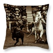 A Night At The Rodeo V14 Throw Pillow