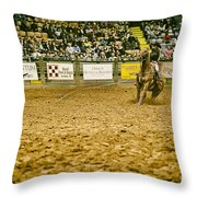 A Night At The Rodeo V16 Throw Pillow