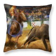 A Night At The Rodeo V18 Throw Pillow