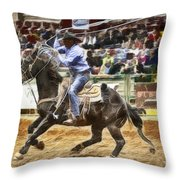 A Night At The Rodeo V19 Throw Pillow