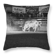 A Night At The Rodeo V2 Throw Pillow