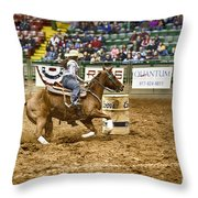 A Night At The Rodeo V20 Throw Pillow