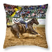 A Night At The Rodeo V21 Throw Pillow