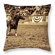 A Night At The Rodeo V22 Throw Pillow
