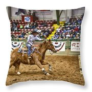 A Night At The Rodeo V27 Throw Pillow