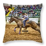 A Night At The Rodeo V28 Throw Pillow