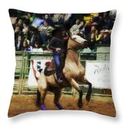 A Night At The Rodeo V29 Throw Pillow
