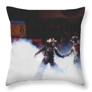 A Night At The Rodeo V3 Throw Pillow