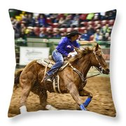 A Night At The Rodeo V30 Throw Pillow
