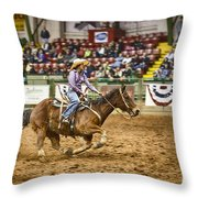 A Night At The Rodeo V31 Throw Pillow