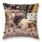 A Night At The Rodeo V34 Throw Pillow