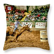 A Night At The Rodeo V35 Throw Pillow