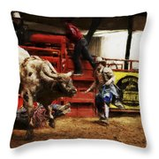 A Night At The Rodeo V38 Throw Pillow