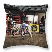 A Night At The Rodeo V39 Throw Pillow