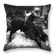 A Night At The Rodeo V4 Throw Pillow