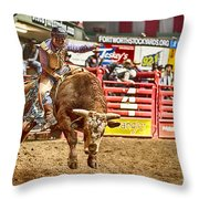 A Night At The Rodeo V5 Throw Pillow