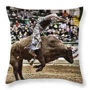 A Night At The Rodeo V8 Throw Pillow