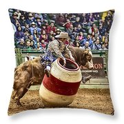 A Night At The Rodeo V9 Throw Pillow
