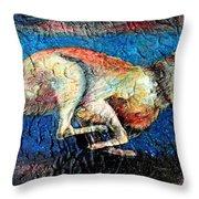 A Night Runner Throw Pillow