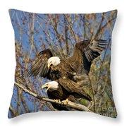 A Noisy Pair Throw Pillow