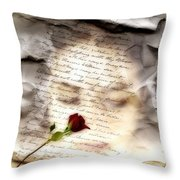 A Note And She Was Gone Throw Pillow