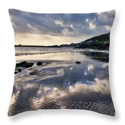 A November Afternoon At Lyme Regis Throw Pillow