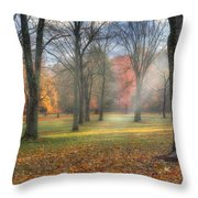 A November Morning Throw Pillow by Bill Wakeley