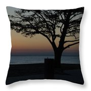 A November Sunset Throw Pillow