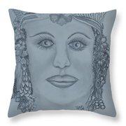A Nubian Princess Throw Pillow