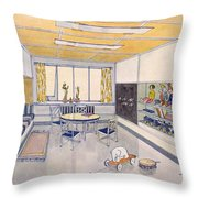 A Nursery, 1929 Throw Pillow