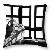 A P-51 Mustang Parked In An Aircraft Throw Pillow