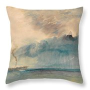 A Paddle-steamer In A Storm Throw Pillow