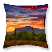 A Painted Desert  Throw Pillow