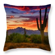 A Painted Desert  Throw Pillow
