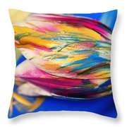 A Painted Tulip. Throw Pillow