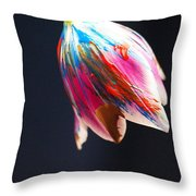 A Painted Tullip In Shadows Throw Pillow